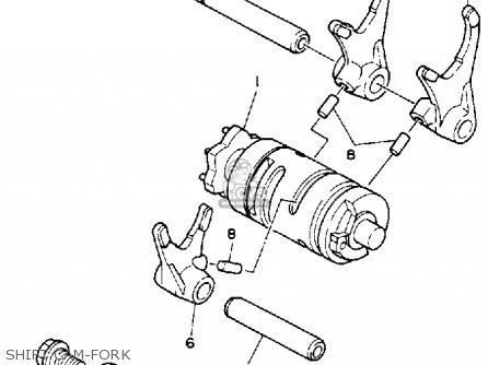 Yamaha Ysp200w Blaster 1989 Shift Cam-fork