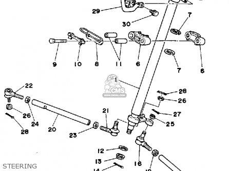 Yamaha Ysp200w Blaster 1989 Steering