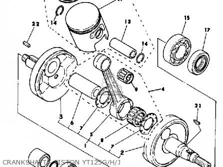 Yamaha Yt125h 1981 Parts Lists And Schematics