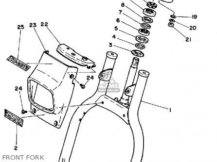 Yamaha Yt125k Tri-moto 1983-1984 Front Fork