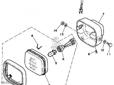 Yamaha Yt125k Tri-moto 1983-1984 Headlight