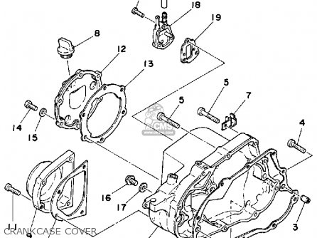 Yamaha Yt125n Tri Moto 1985 Parts Lists And Schematics