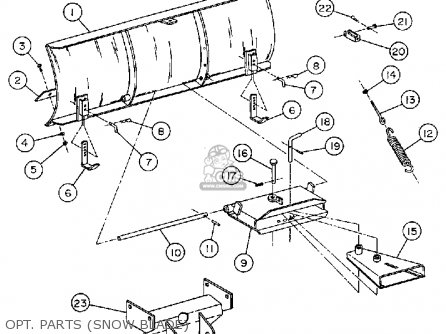 yamaha yt3600m front engine lawn tractor 1988 opt parts snow blade_mediumyau0235g 2_956f 8 way power seat wiring diagram,power free download printable  at soozxer.org