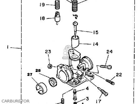 Yamaha Yt60n Tri-zinger 1984-1985 Carburetor