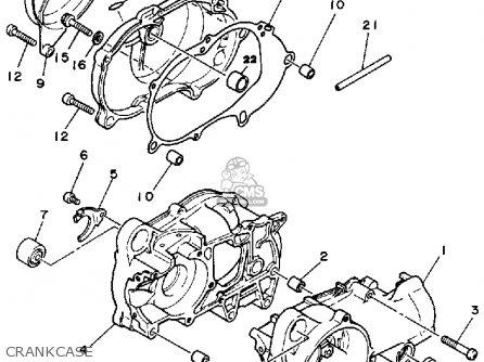 Yamaha Yt60n Tri-zinger 1984-1985 Crankcase