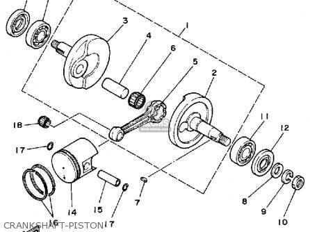 Yamaha Yt60n Tri-zinger 1984-1985 Crankshaft-piston