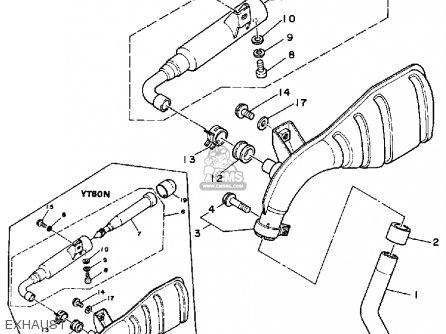 Yamaha Yt60n Tri-zinger 1984-1985 Exhaust