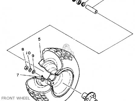Yamaha Yt60n Tri-zinger 1984-1985 Front Wheel
