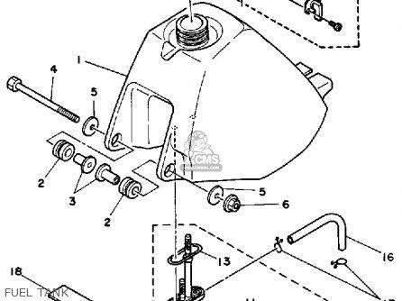 Yamaha Yt60n Tri-zinger 1984-1985 Fuel Tank