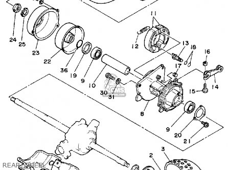 Yamaha Yt60n Tri-zinger 1984-1985 Rear Wheel