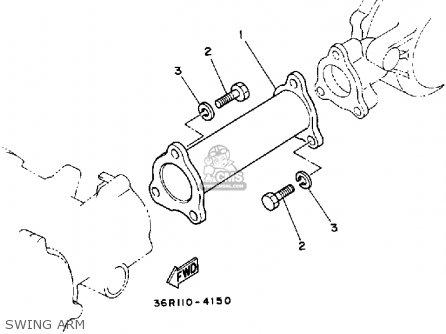 Yamaha Yt60n Tri-zinger 1984-1985 Swing Arm