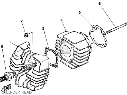 Yamaha Yt60n Tri-zinger 1984-1985 Usa Cylinder Head