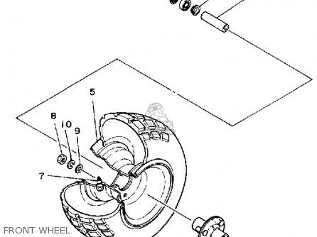 Yamaha Yt60n Tri-zinger 1984-1985 Usa Front Wheel