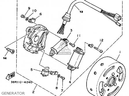 Yamaha Yt60n Tri-zinger 1984-1985 Usa Generator