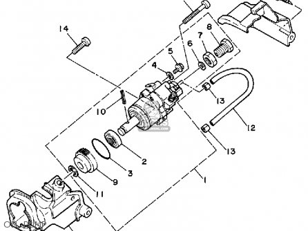 Yamaha Yt60n Tri-zinger 1984-1985 Usa Oil Pump