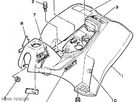 Yamaha Yt60n Tri-zinger 1984-1985 Usa Rear Fender