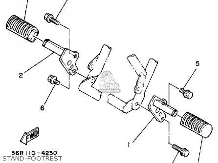 Yamaha Yt60n Tri-zinger 1984-1985 Usa Stand-footrest