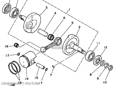 Yamaha Yt60n Tri-zinger 1985 Usa Crankshaft-piston