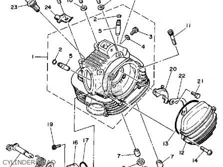 Yamaha Ytm200 L Tri-moto 1983-1984 Cylinder Head