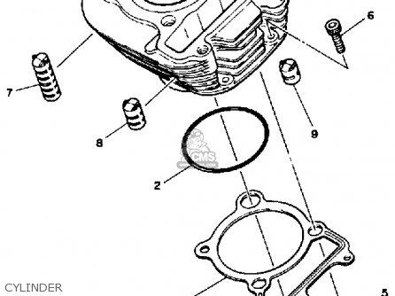 Yamaha Ytm200 L Tri-moto 1983-1984 Cylinder