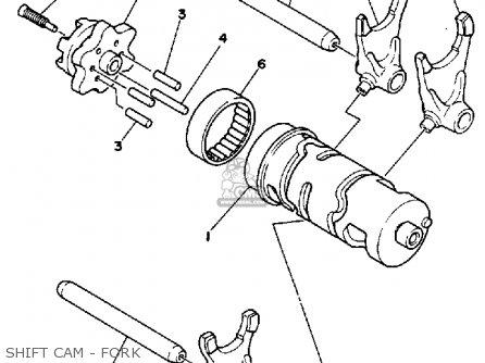 Yamaha Ytm200 L Tri-moto 1983-1984 Shift Cam - Fork