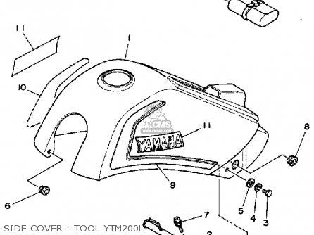 Yamaha Ytm200 L Tri-moto 1983-1984 Side Cover - Tool Ytm200l