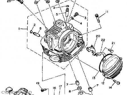yamaha ytm200el 1983 1984 parts list partsmanual partsfiche Camo Four Wheelers