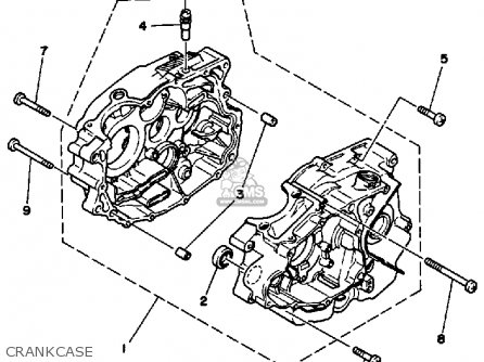Yamaha Ytm200l Tri-moto 1984 Crankcase