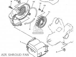 Yamaha Yv50 1998 5bm2 Denmark 285bm-331e1 Air Shroud Fan