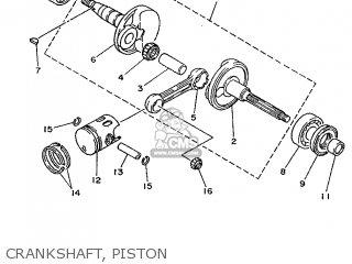 Yamaha Yv50 1998 5bm2 Denmark 285bm-331e1 Crankshaft  Piston