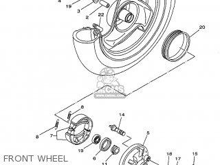 Yamaha Yv50 1998 5bm2 Denmark 285bm-331e1 Front Wheel