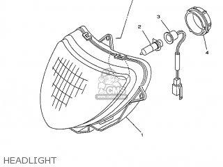 Yamaha Yv50 1998 5bm2 Denmark 285bm-331e1 Headlight