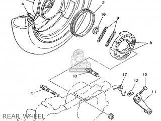 Yamaha Yv50 1998 5bm2 Denmark 285bm-331e1 Rear Wheel