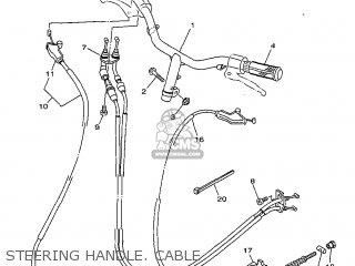 Yamaha Yv50 1998 5bm2 Denmark 285bm-331e1 Steering Handle  Cable