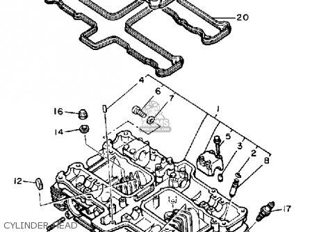 yamaha yx600 radian 1987 (h) usa cylinder head  cylinder head � yamaha yx600