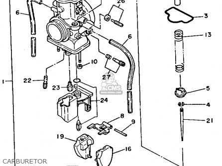Yamaha Yz125 1989 k Usa Carburetor