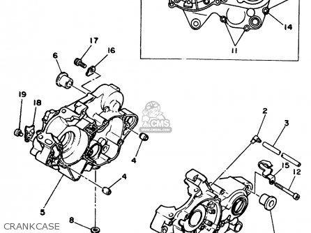 Yamaha Yz125 1989 k Usa Crankcase