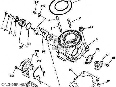 Yamaha Yz125 1989 k Usa Cylinder Head