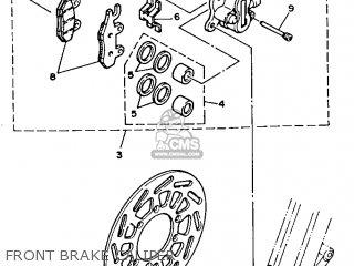 Yamaha Yz125 1989 k Usa Front Brake Caliper