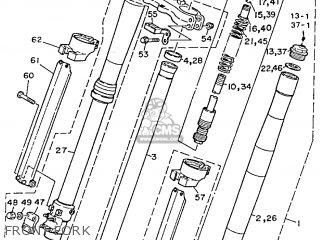 Yamaha Yz125 1989 k Usa Front Fork