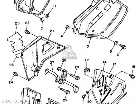 Yamaha Yz125 1989 k Usa Side Cover