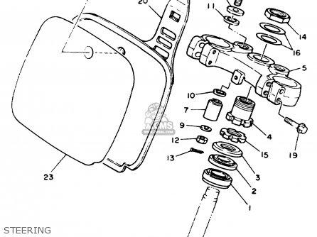 Yamaha Yz125 1989 k Usa Steering