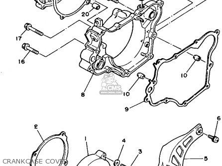 Yamaha Yz125w 1989 Crankcase Cover