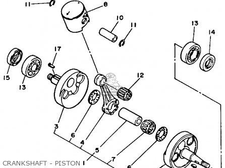 Yamaha Yz125w 1989 Crankshaft - Piston