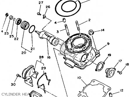 Yamaha Yz125w 1989 Cylinder Head