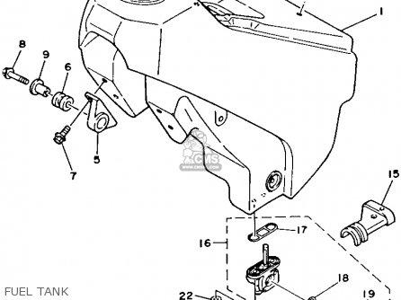 Yamaha Yz125w 1989 Fuel Tank