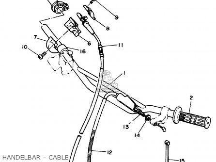 Yamaha Yz125w 1989 Handelbar - Cable