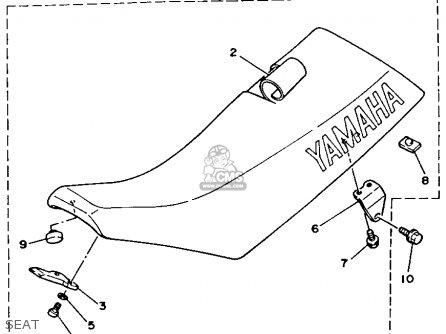 Yamaha Yz125w 1989 Seat