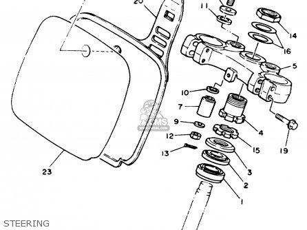 Yamaha Yz125w 1989 Steering