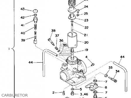 Yamaha Yz175 1976 Usa Carburetor